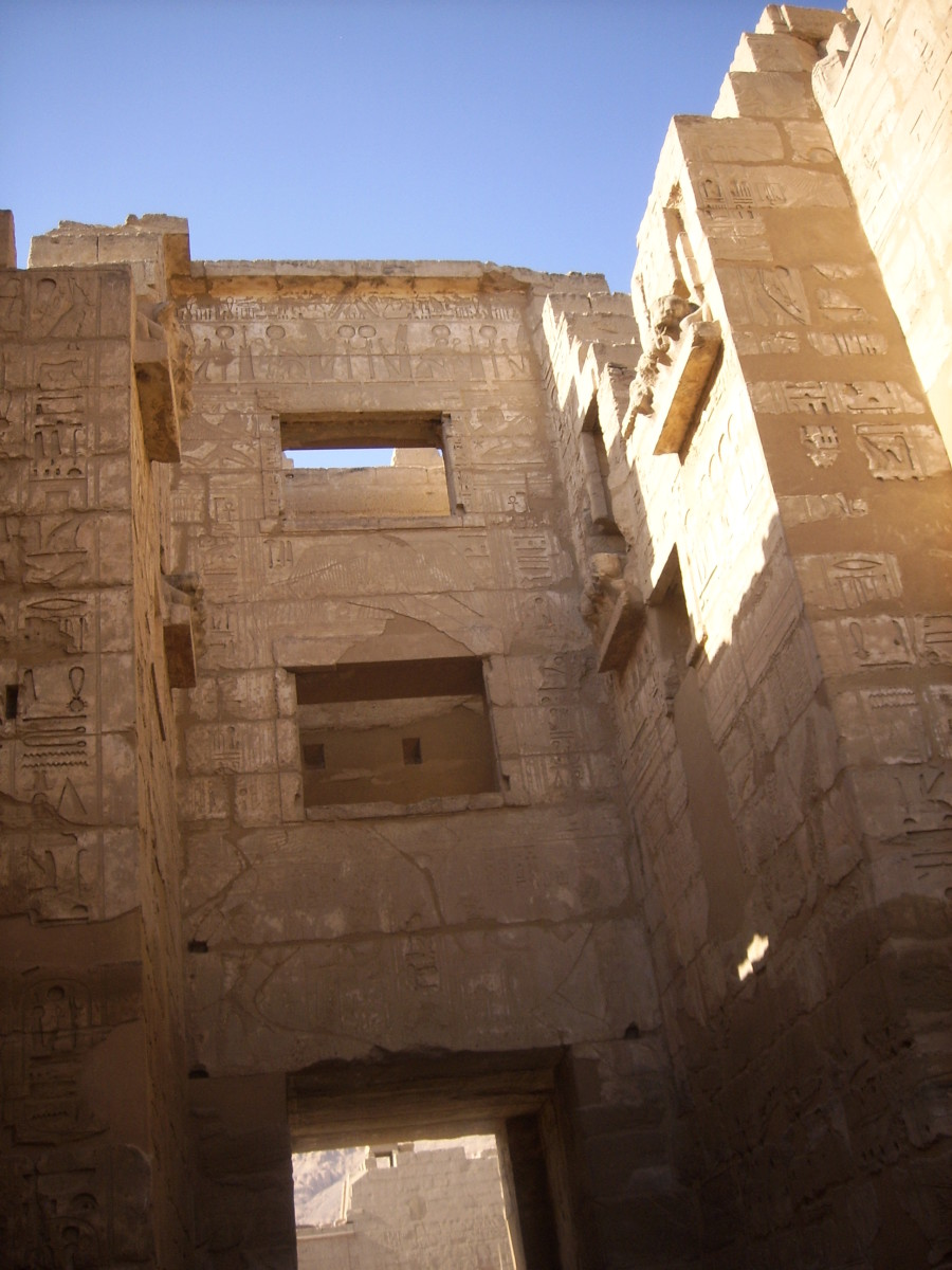 Fortified gate at Medinet Habu - mortuary temple of Pharaoh Ramesses III