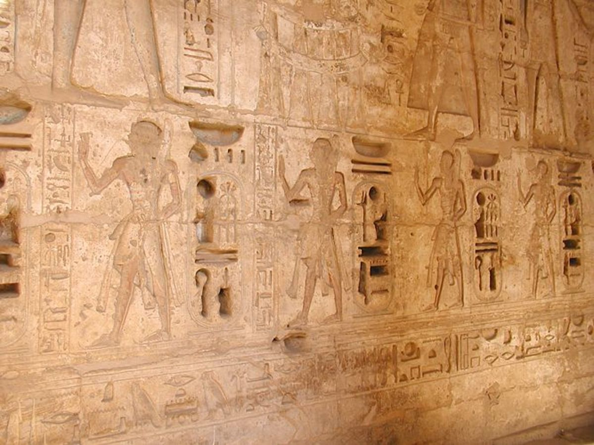 Procession of the Princes at Medinet Habu -sons of Pharaoh Ramesses III