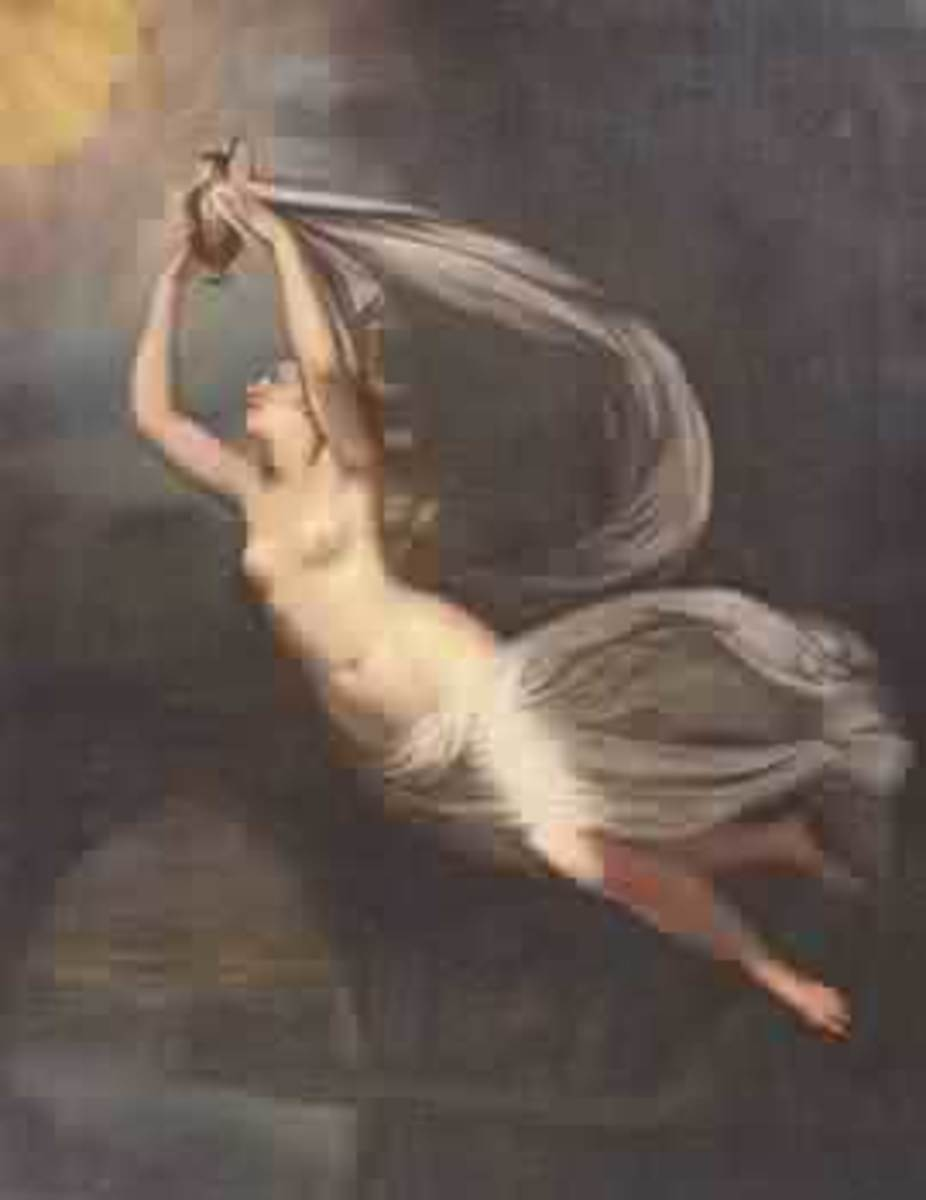 Phoebe (Titan), 19th century unsigned painting from Continental School PD-art-100