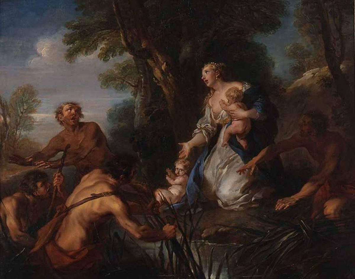 François Lemoyne (1721) - Latona and the Peasants of Lycia PD-art-100