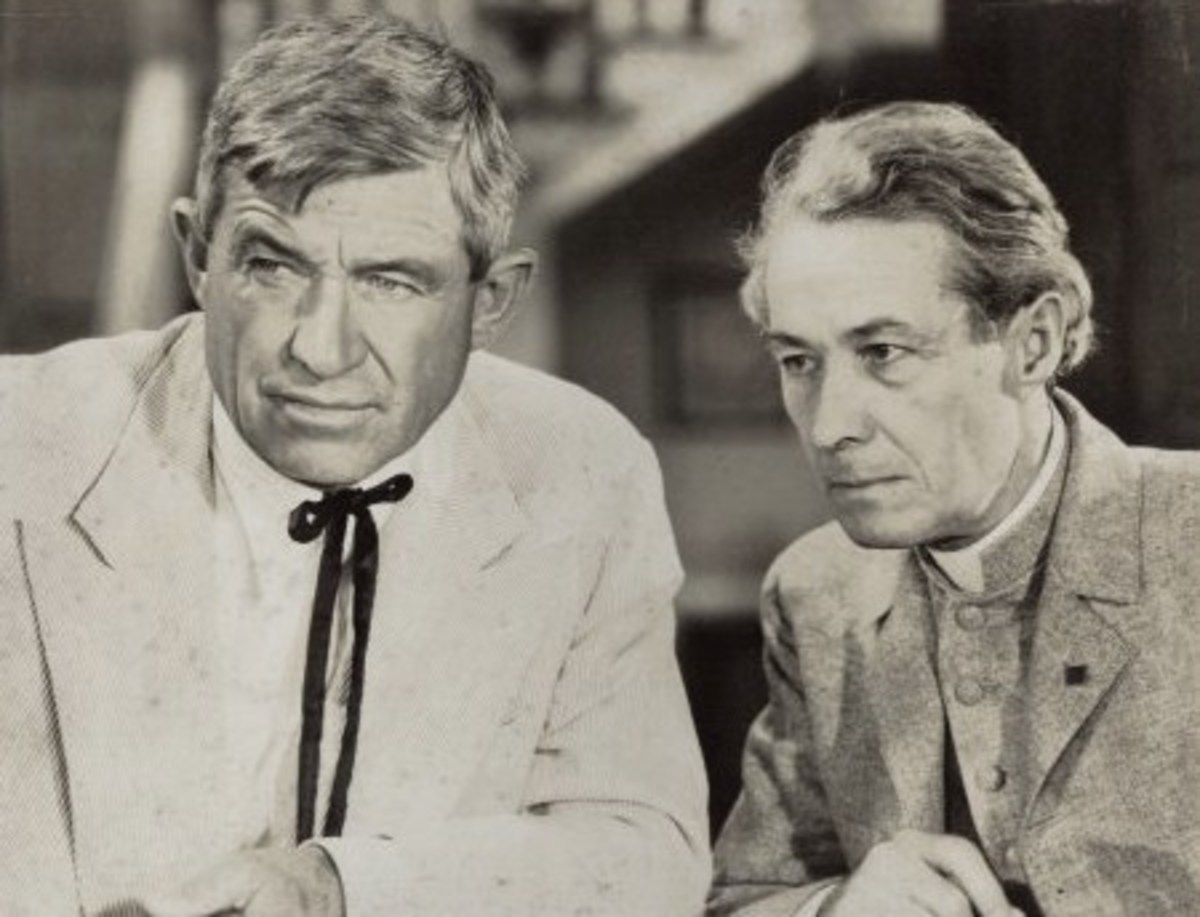A 1934 publicity still for the movie, Judge Priest. Will Rogers (left) and Henry B. Walthall.