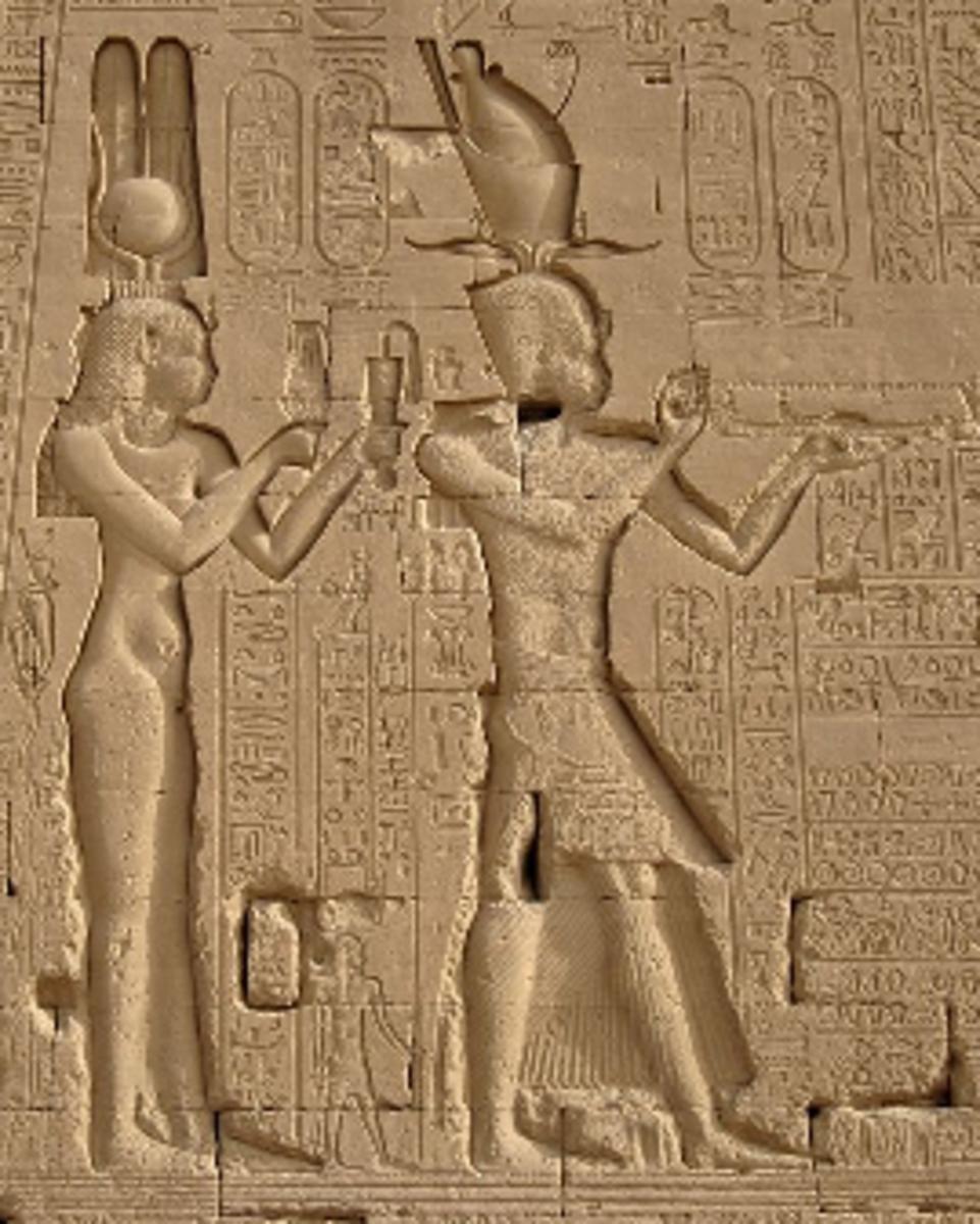 Cleopatra VII and Ptolemy Caesar