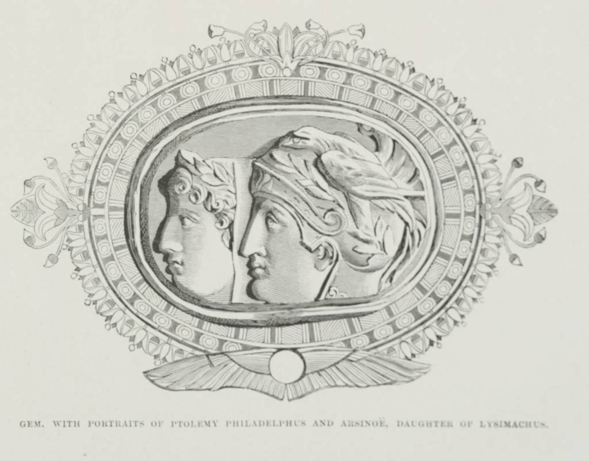Ptolemy II and his first wife Arsinoe I