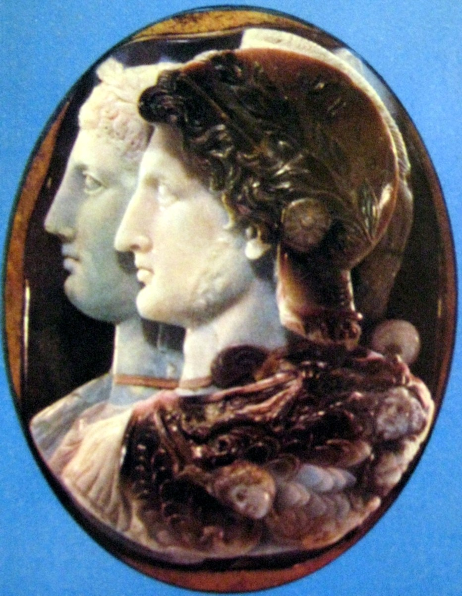 Ptolemy II and his sister/wife Arsinoe II
