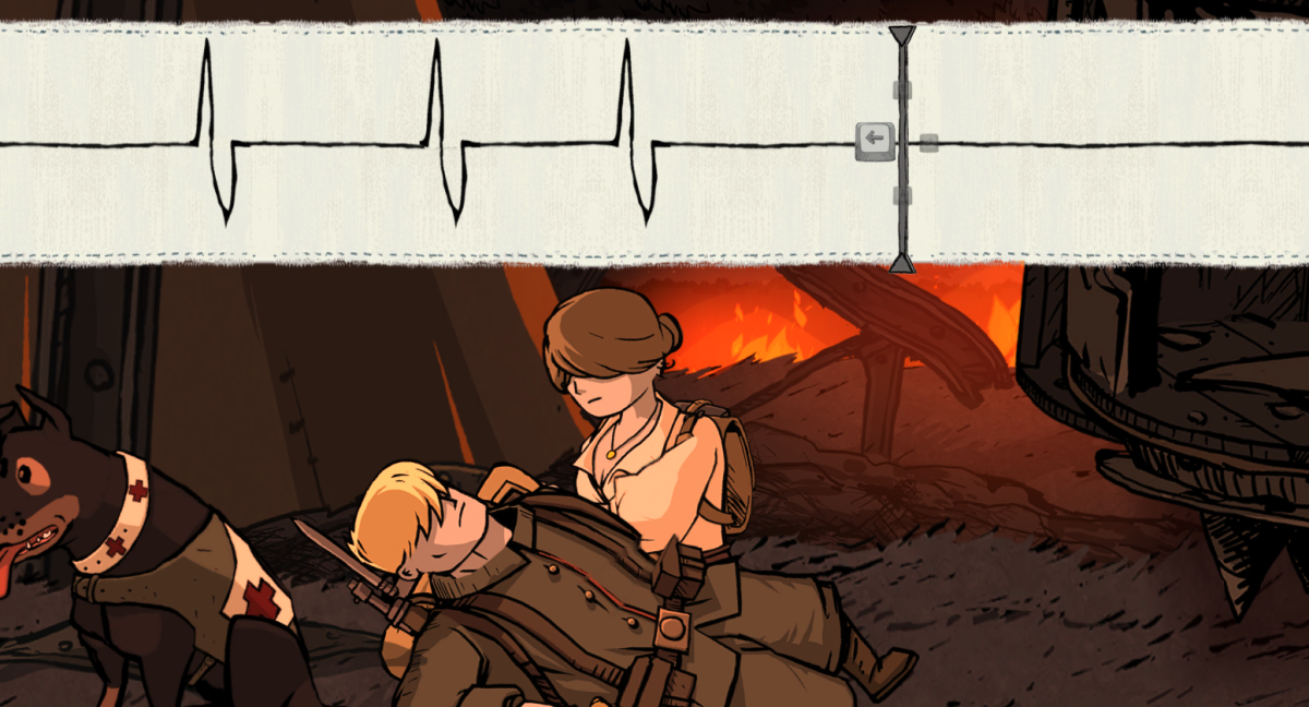 Anna heals a wounded Karl in Valiant Hearts.