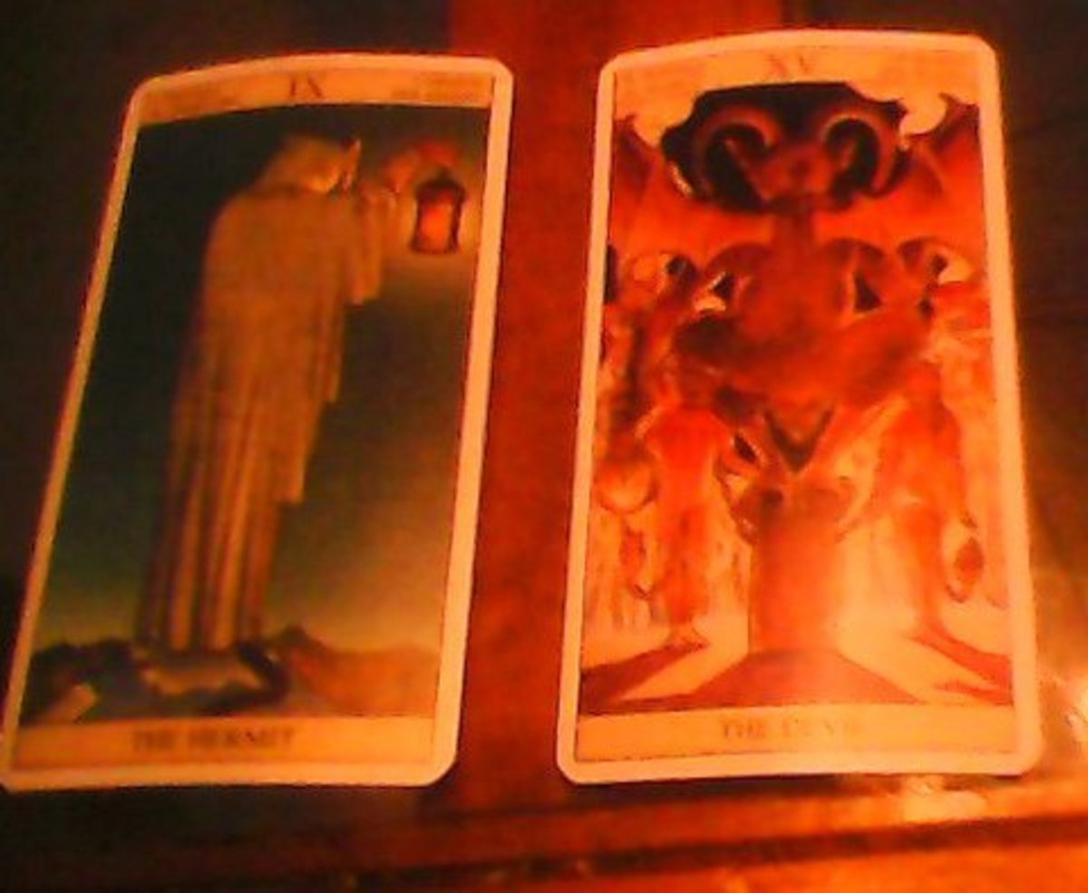 Tarot Hermit with the Tarot Devil, are you Dancing with them