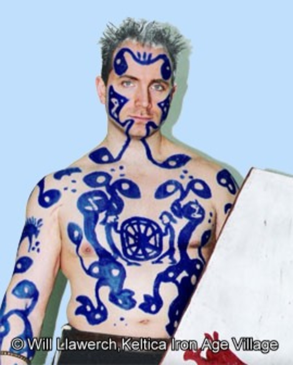 Blue Plant Dye Used As War Paint