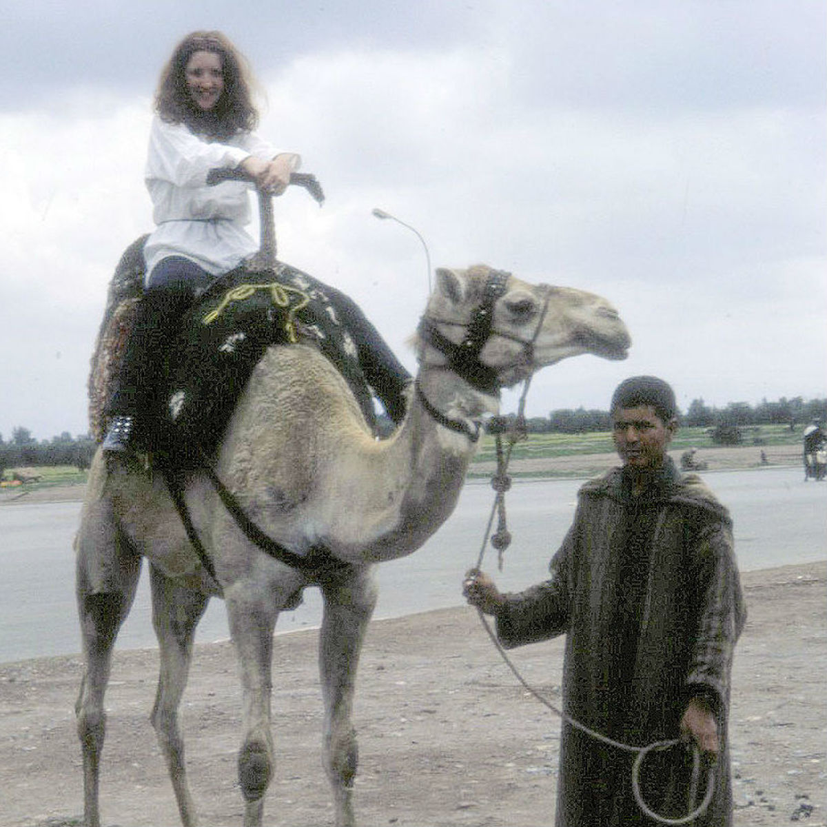 One of my favourite photographs. Me, the young hippie, on a camel.