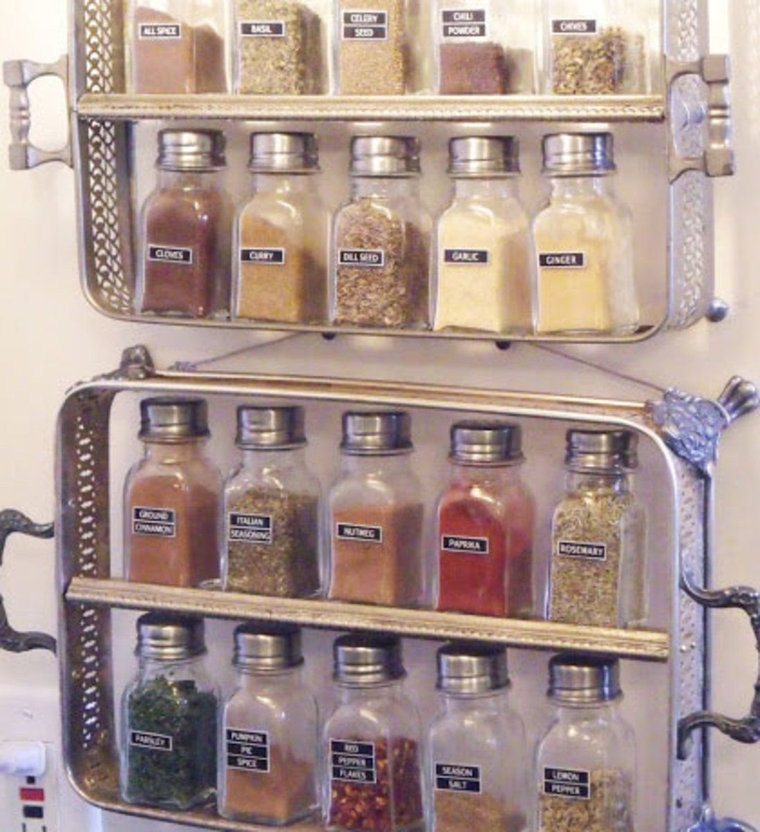 Silver Spice Rack | Easy Organization Ideas for the Home