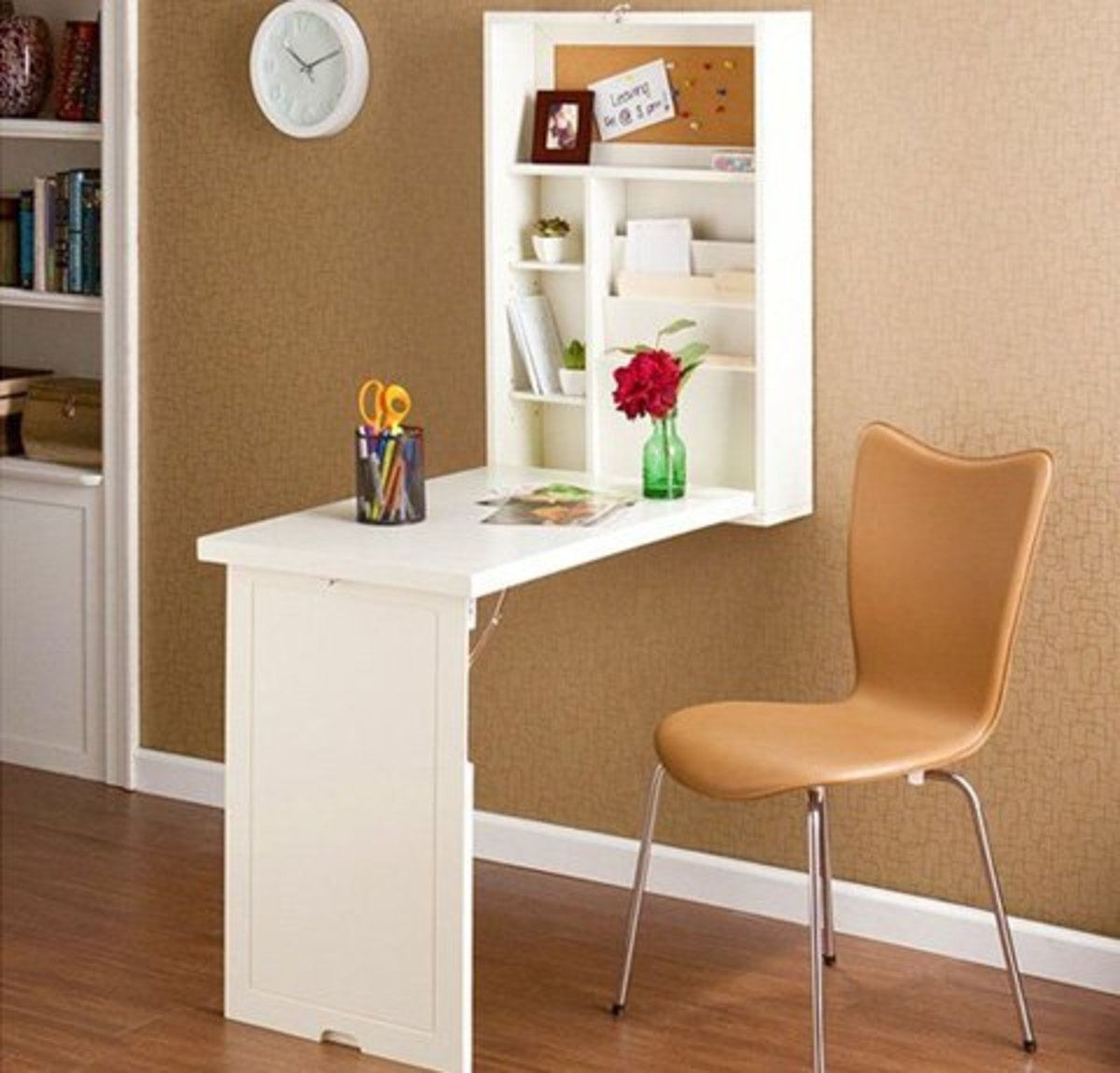 Foldout Desk   Easy Organization Ideas for the Home