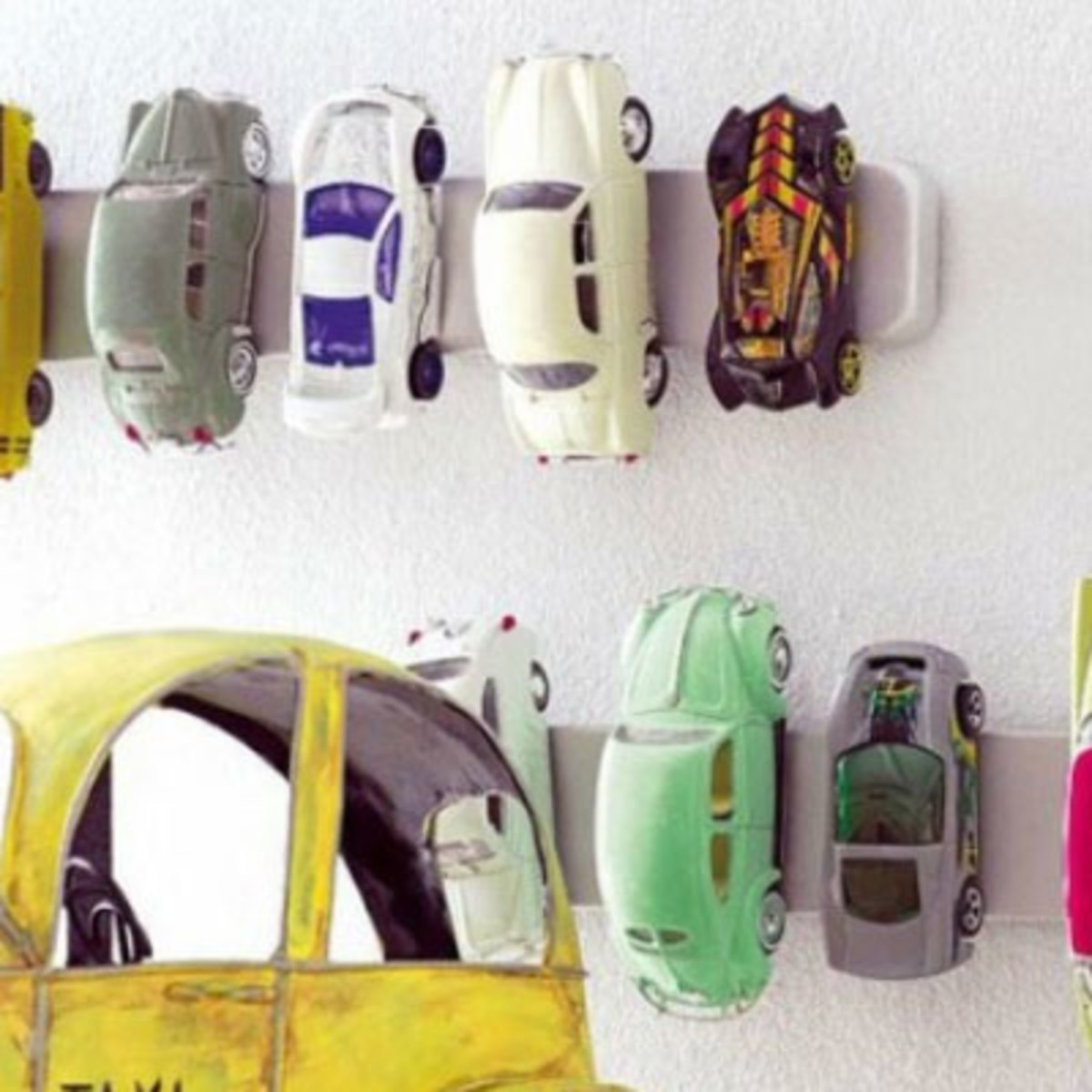 Magnetic Wall Strips for Toy Cars   Easy Organization Ideas for the Home