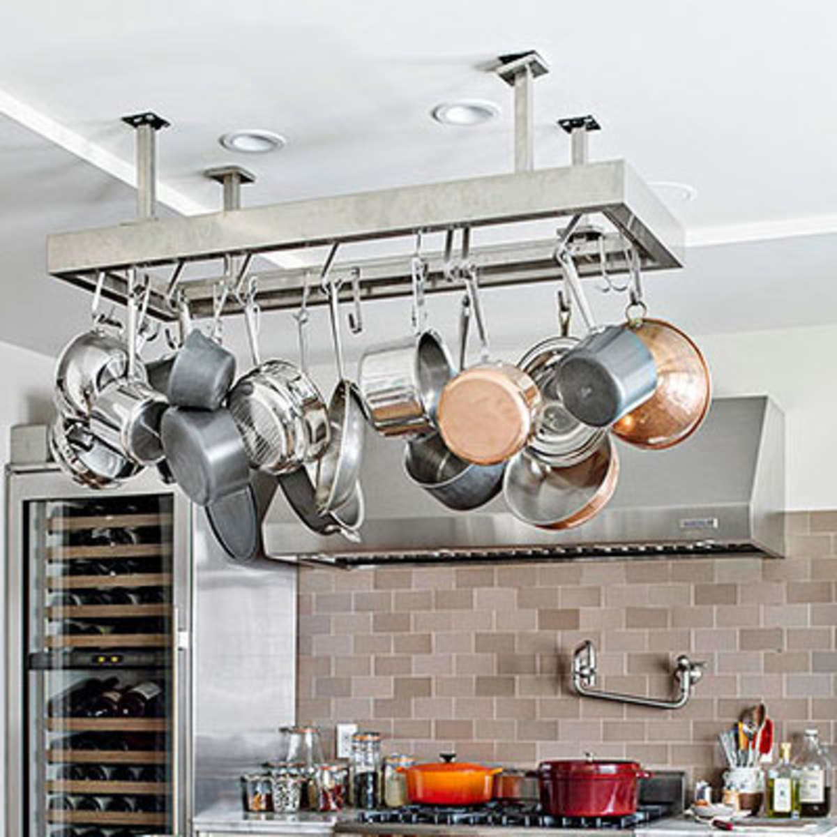 Pot Rack   Easy Organization Ideas for the Home