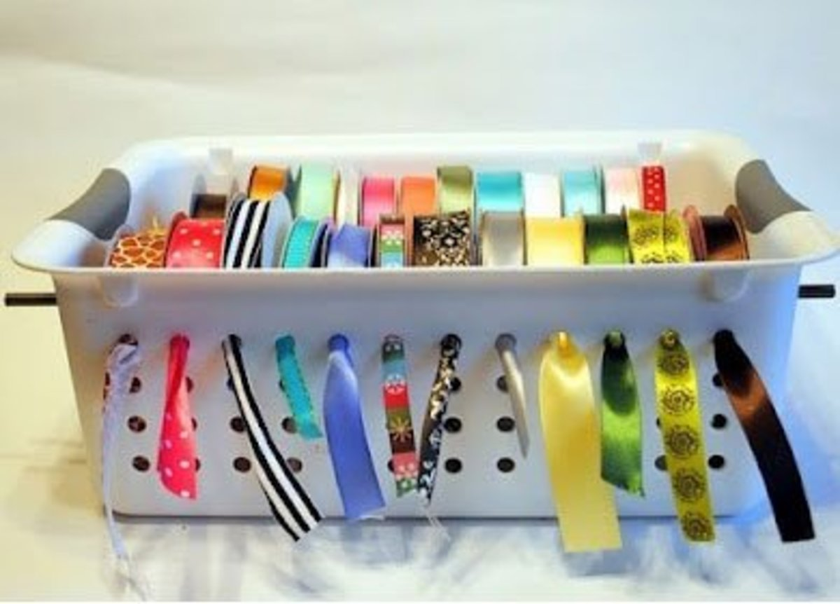 Laundry Basket Craft Storage | Easy Organization Ideas for the Home