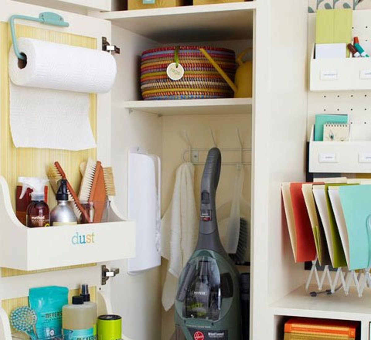 Cupboard Door Organizer Rack   Easy Organization Ideas for the Home