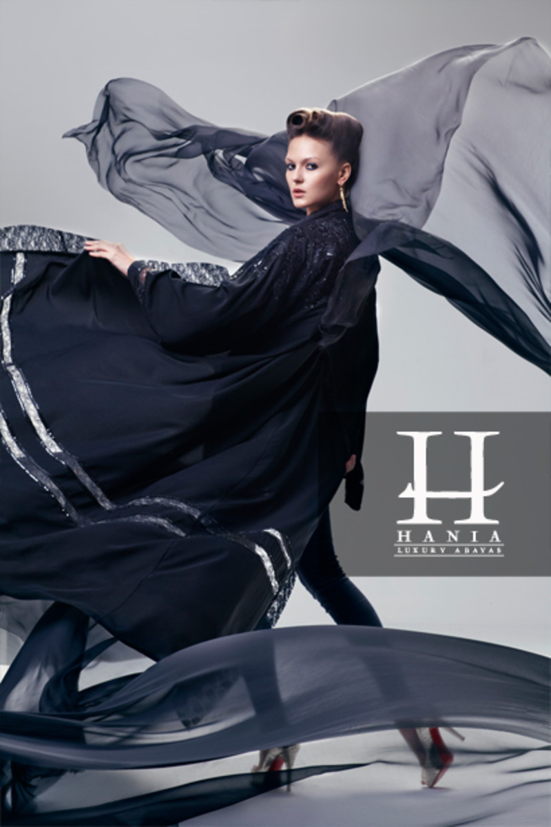 Hania Collection's luxury abaya from Riyadh