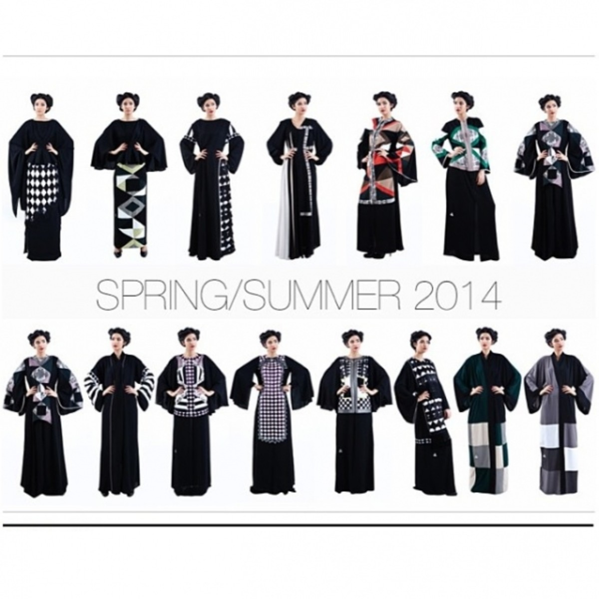 DAS Collection's Sprint / summer collection 2014. Bold prints used in burqas