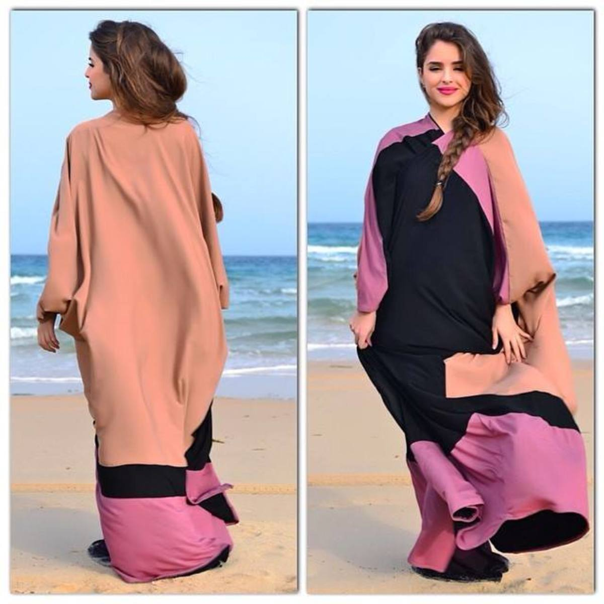 Jo LaMode Designer Abaya by the ocean
