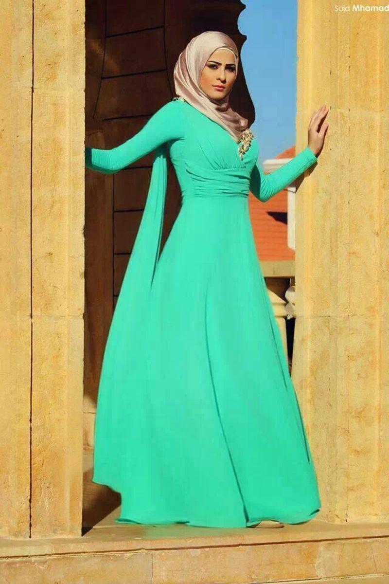 Paste green abaya