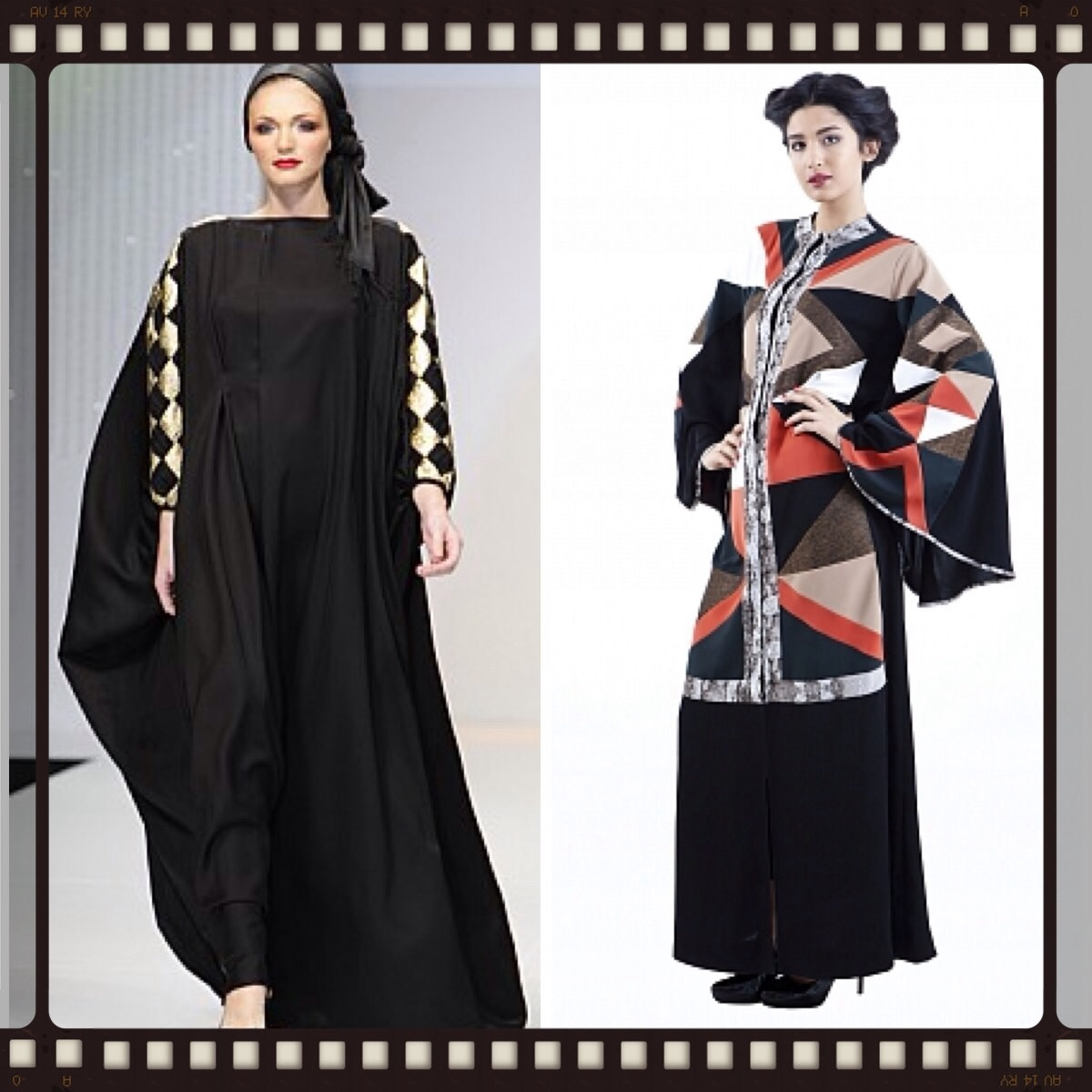 Geometric prints abaya or kaftan