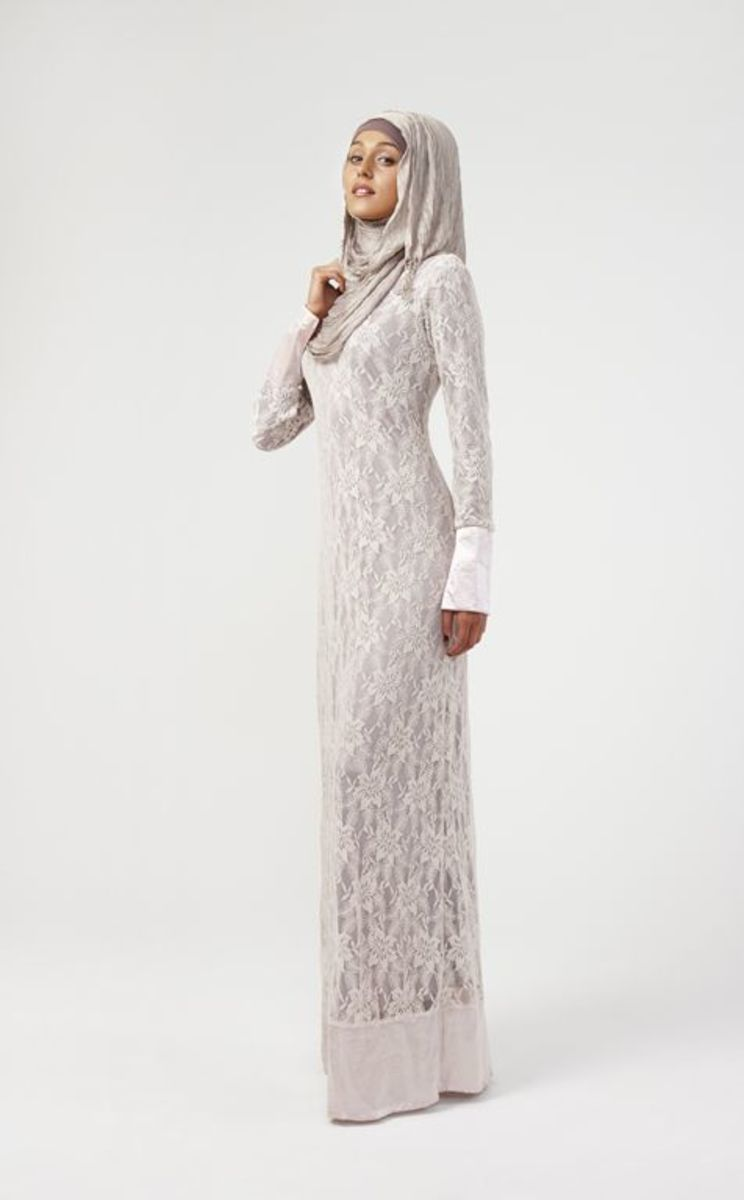 White Lace Abaya or burqa