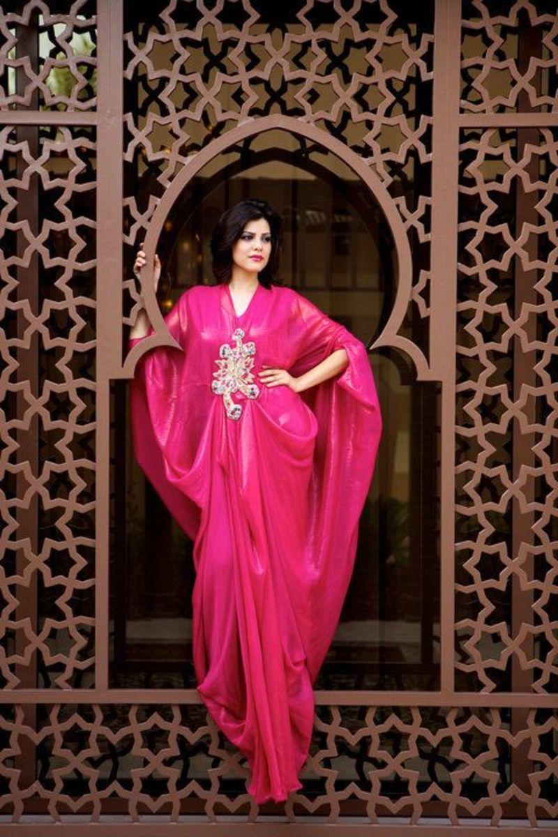 Hot Pink Loose Abaya