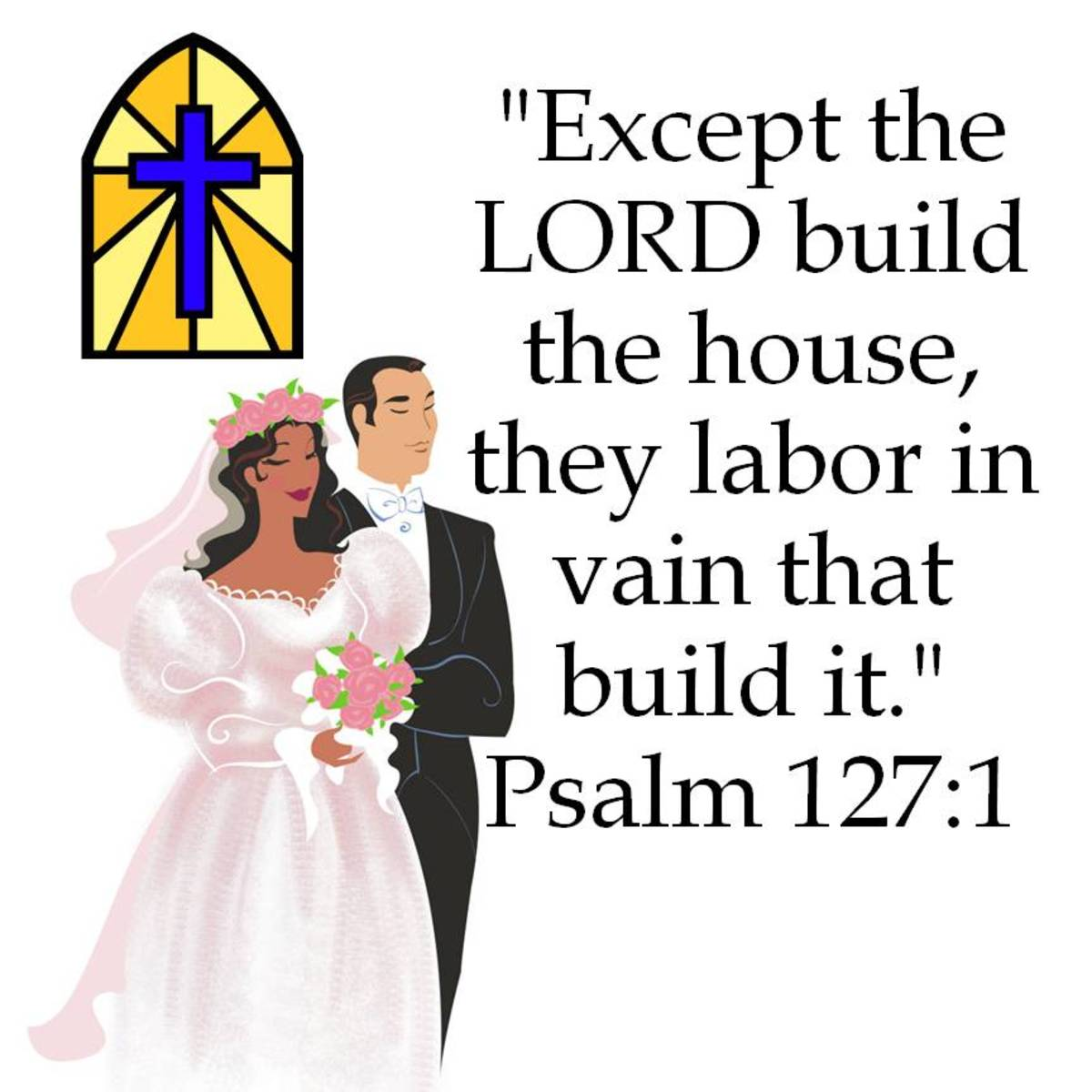 This is a Bible verse to encourage a newlywed couple to allow God to build their marriage.