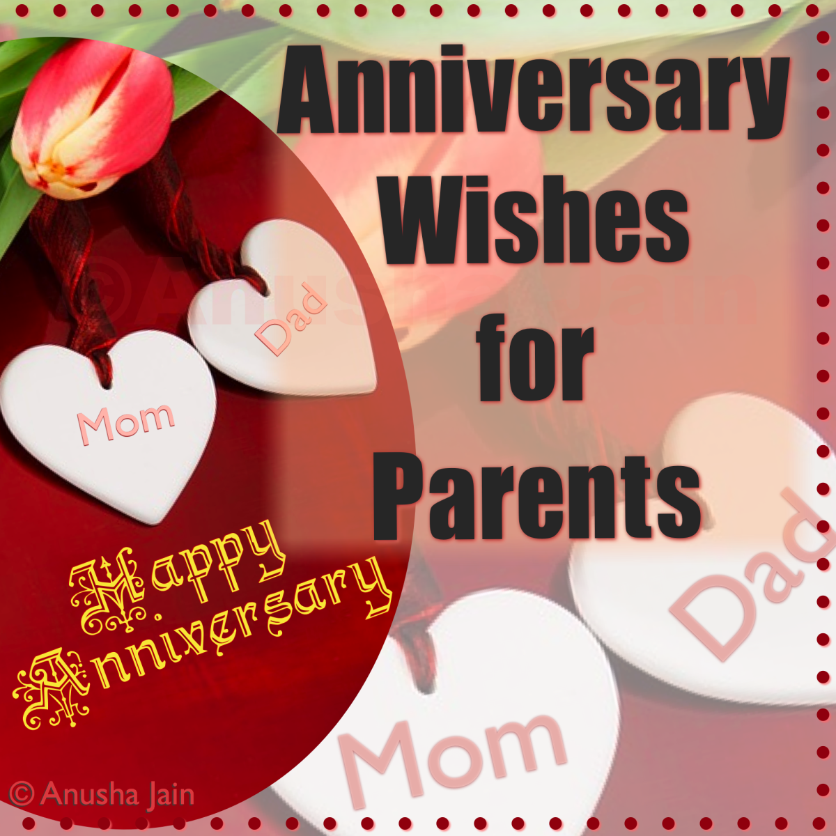 Poems and Messages to say Happy Anniversary to your parents.
