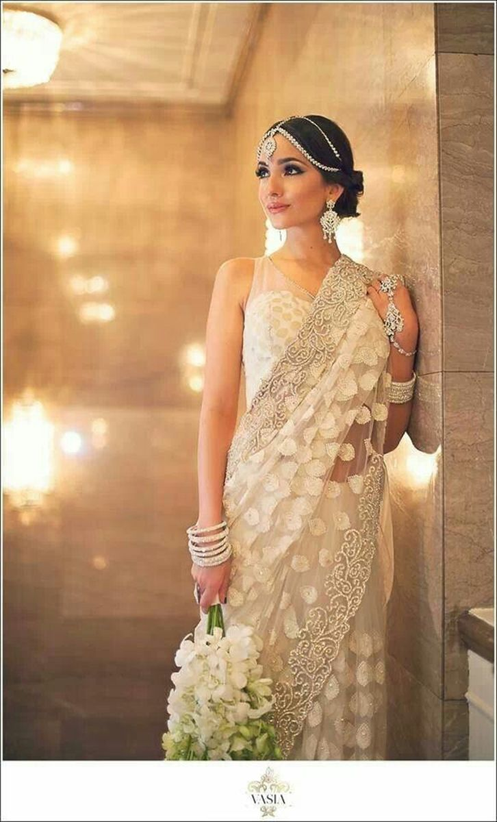elegant in white saree