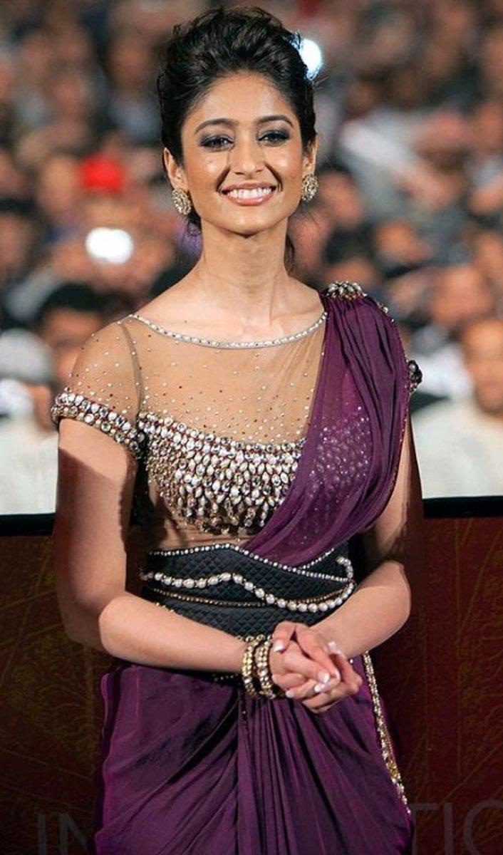 Gorgeous latest blouse design. D'Cruz looked stunning in a Tarun Tahiliani Designer wear