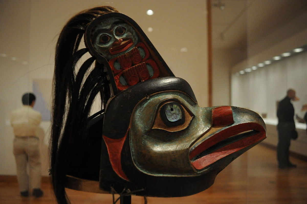 Raven ceremonial hat of the Tlingit tribe