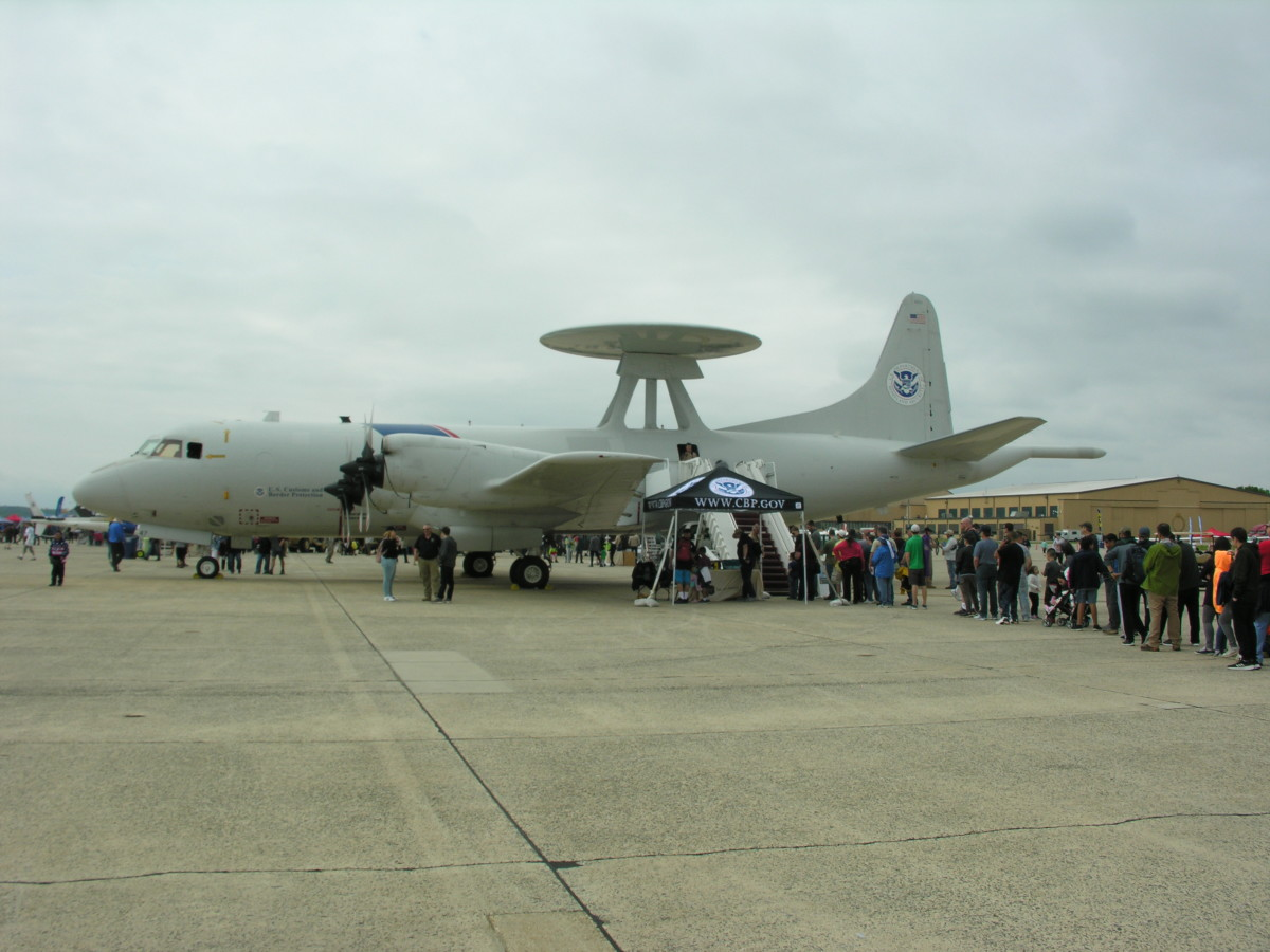A P-3 Orion of the Department of Homeland Security.