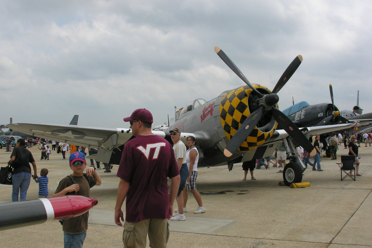 A P-47 pf the CAF at the Andrews AFB Open House, 2009.