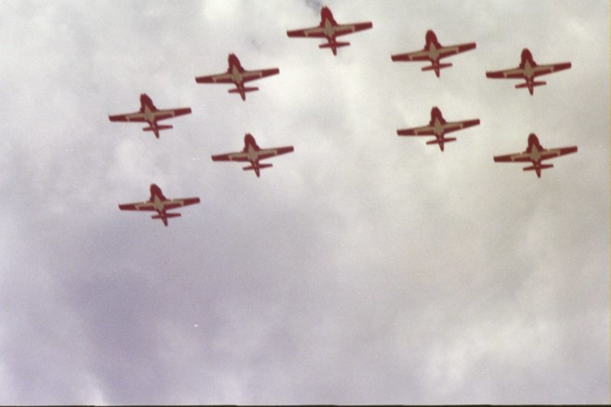 Canadian Snowbirds performing at Andrews AFB.