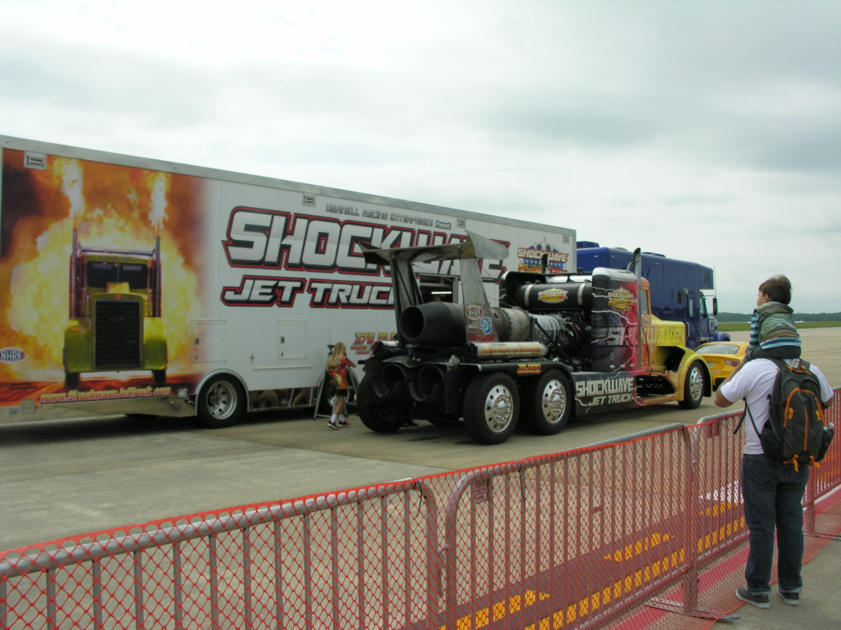 The jet truck Shockwave, Andrews AFB, MD, May 11, 2019.