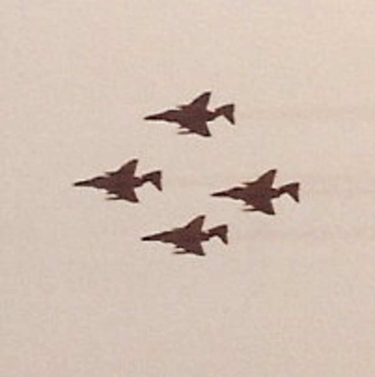 A flight of F-4 Phantom IIs at an Andrews AFB Open House.