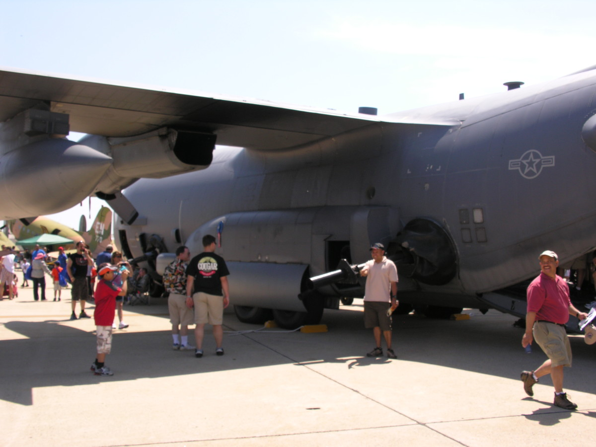 An AC-130, tail number 20253, Andrews AFB Open House, 2012.