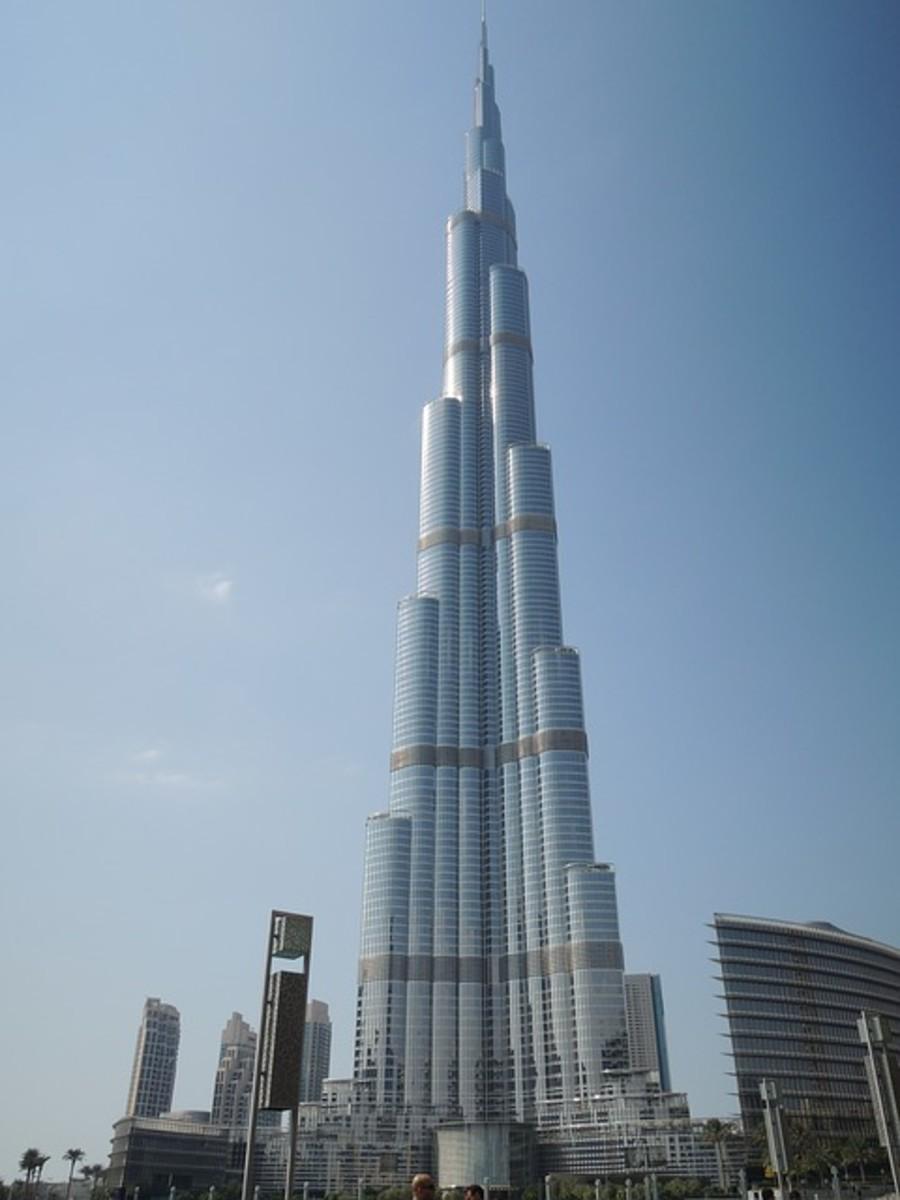 The Burj Khalifa in Dubai is the world's tallest building