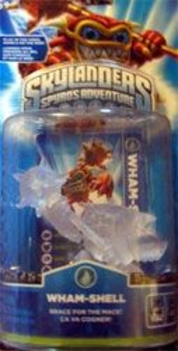 Skylanders Crystal Clear Wham Shell