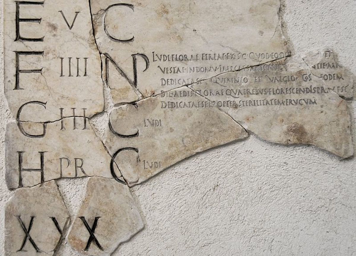 Detail from the Fasti Praenesti Calendar preserved in the National Museum of Rome.