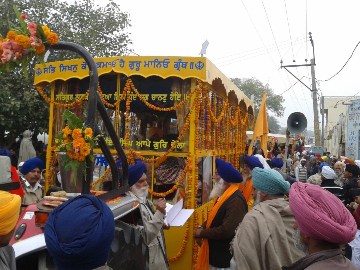 Nagar Kirtan being taken out in a town