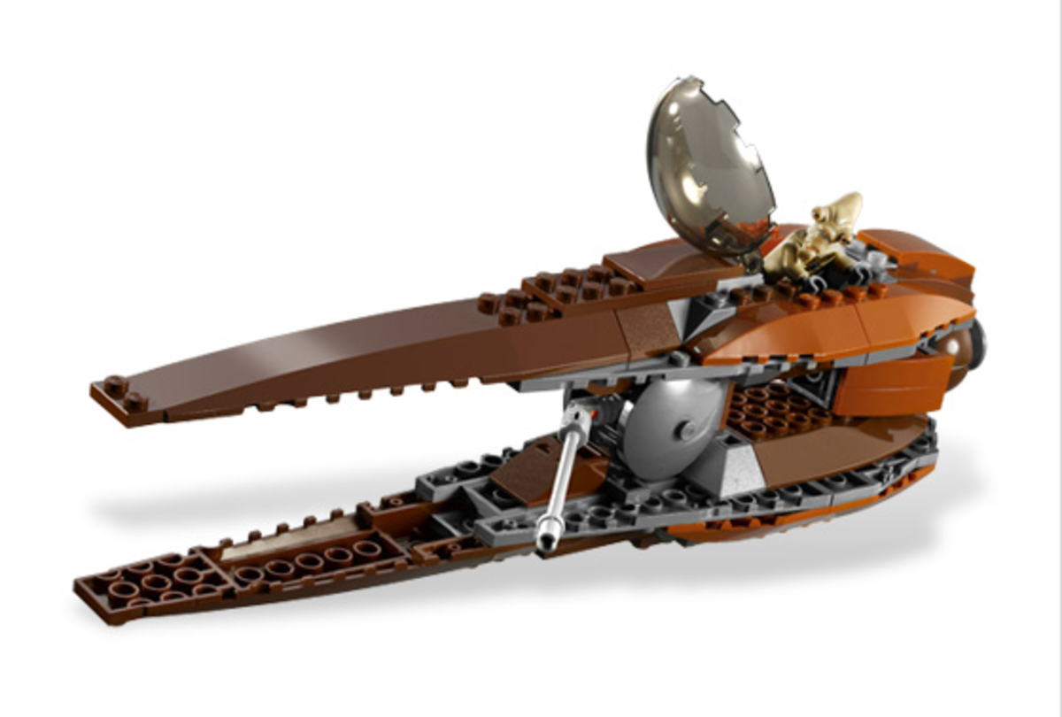 LEGO Star Wars Geonosian Starfighter Assembled