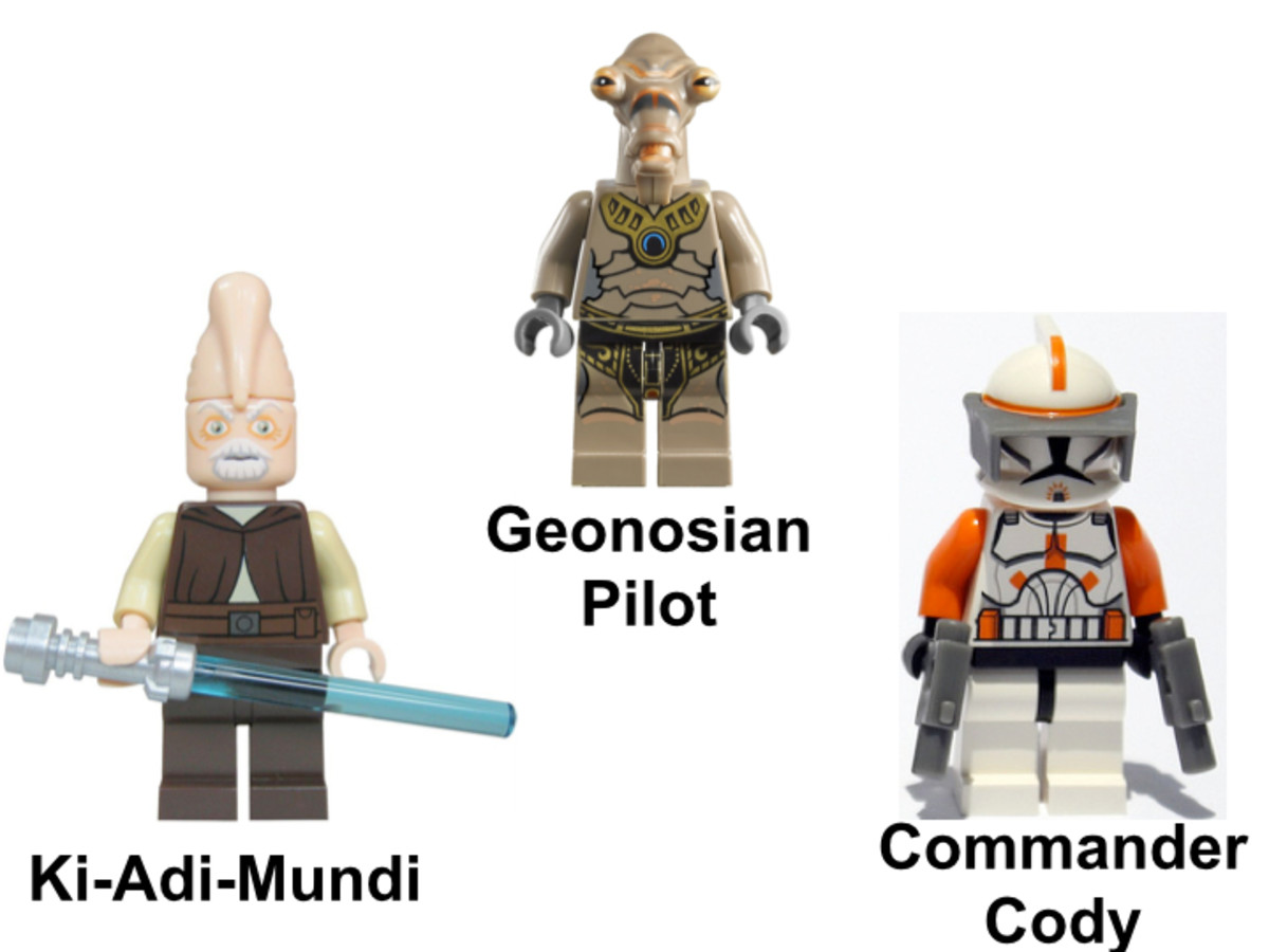 LEGO Star Wars Geonosian Starfighter Minifigures