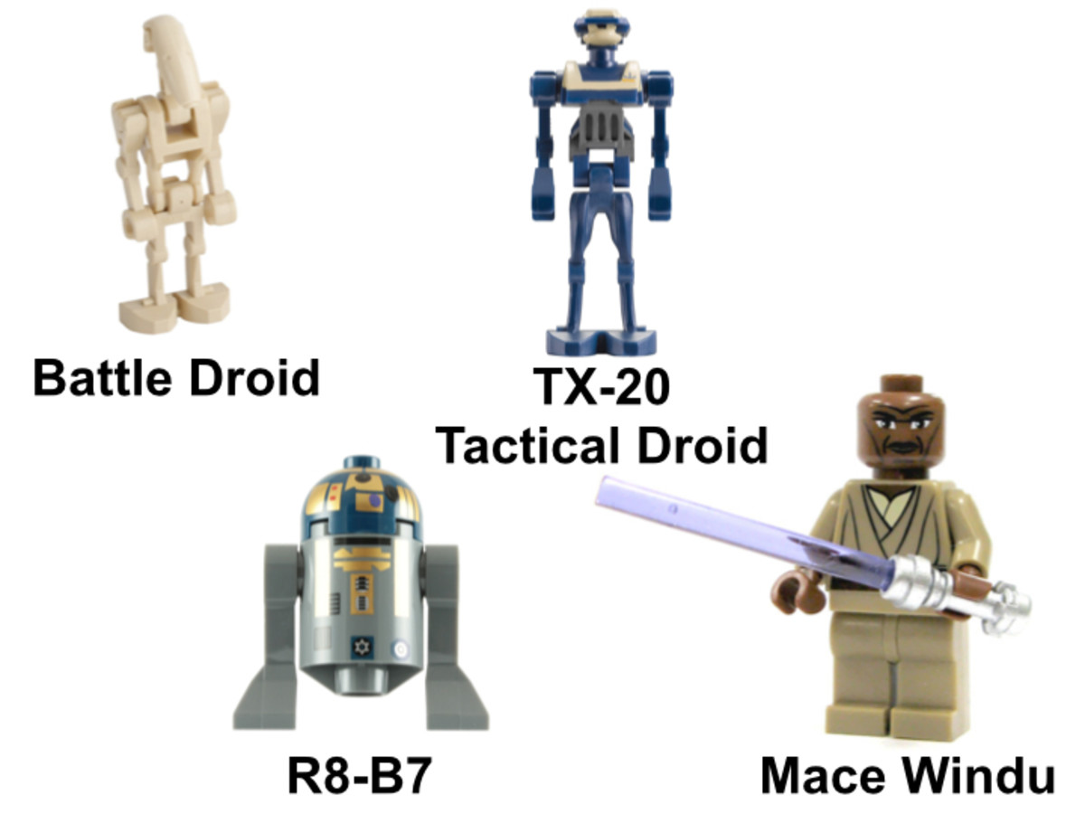 LEGO Star Wars Mace Windu's Jedi Fighter 7868 Minifigures