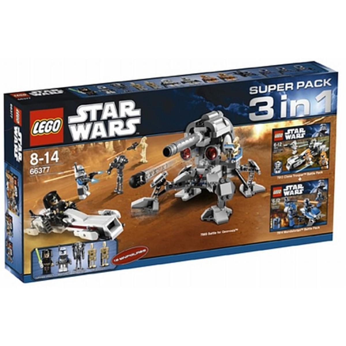 LEGO Star Wars 3 in 1 Super Pack # 66377 Box