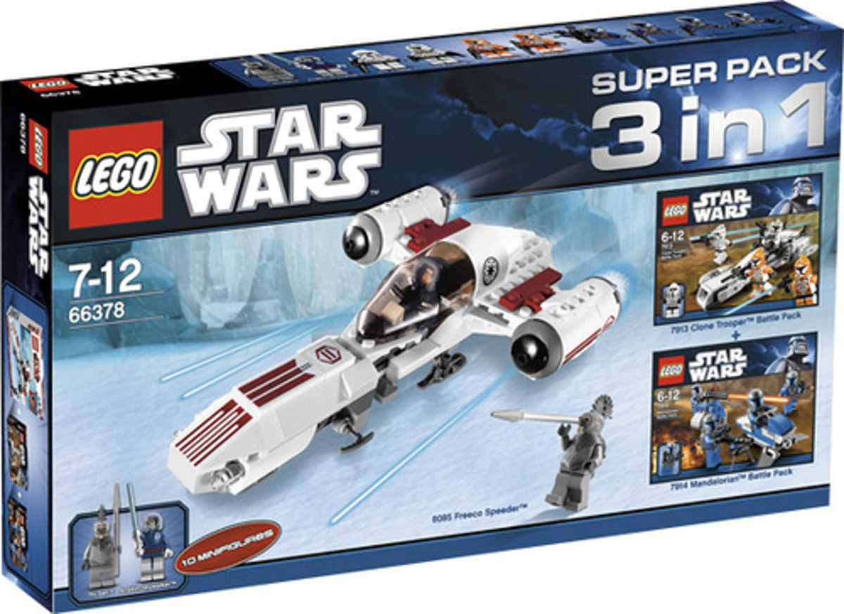 LEGO Star Wars 3 in 1 Super Pack # 66378 Box