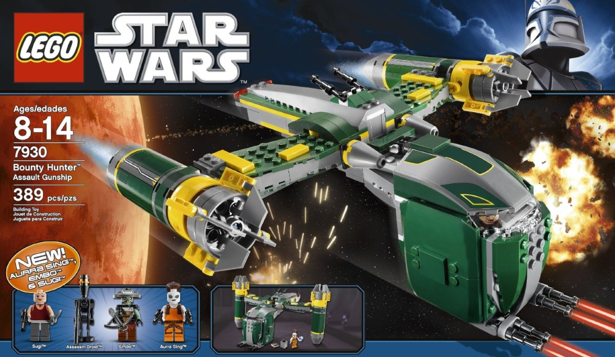 LEGO Star Wars Bounty Hunter Assault Gunship 7930 Box