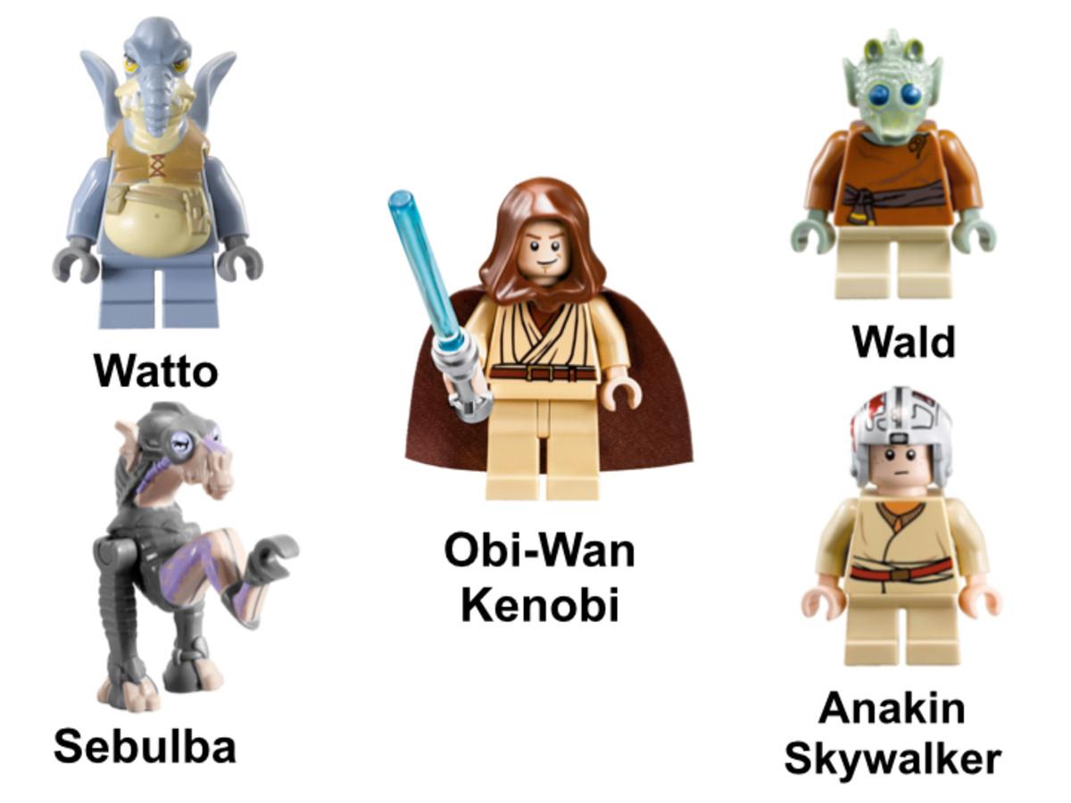 LEGO Star Wars Anakin Skywalker and Sebulba's Podracers 7962 Minifigures