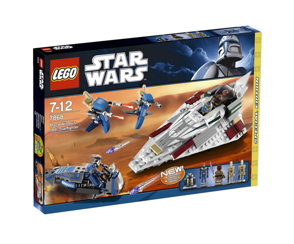 LEGO Star Wars Mace Windu's Jedi Fighter 7868 Box