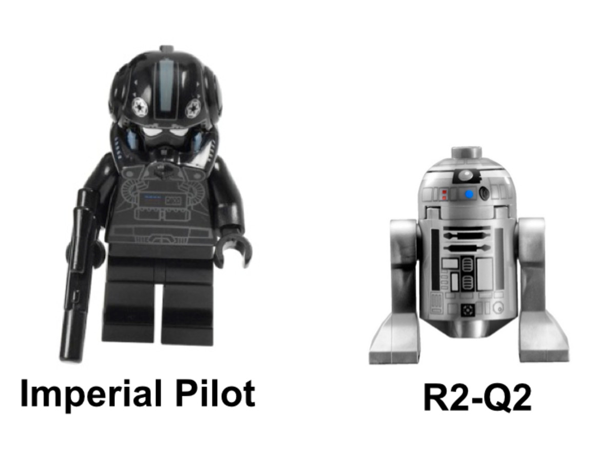 LEGO Star Wars Imperial V-Wing Starfighter 7915 Minifigures