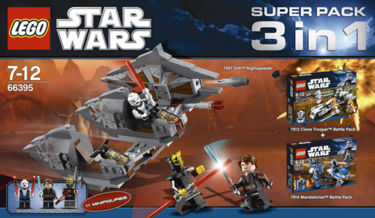 LEGO Star Wars 3 in 1 Super Pack # 66395 Box
